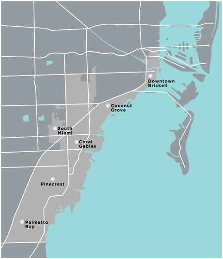 Miami Neighborhoods Map