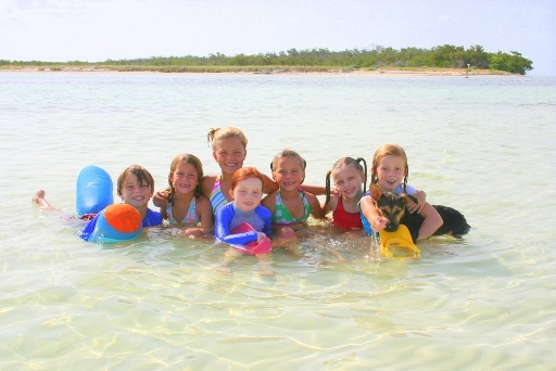 Fun in the sun at Woman Key, just off Key West