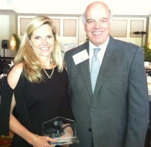 Ashley with Ron Shuffield, President of EWM Realtors
