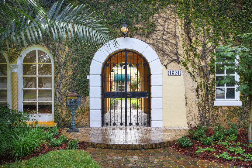1524 Garcia Avenue Old Spanish Coral Gables entrance