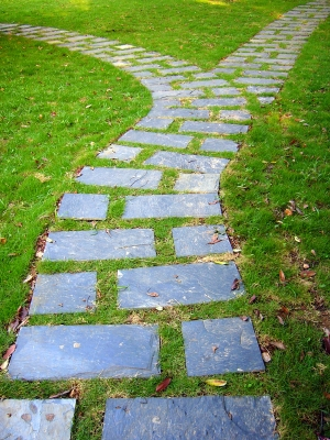 paved path in greens