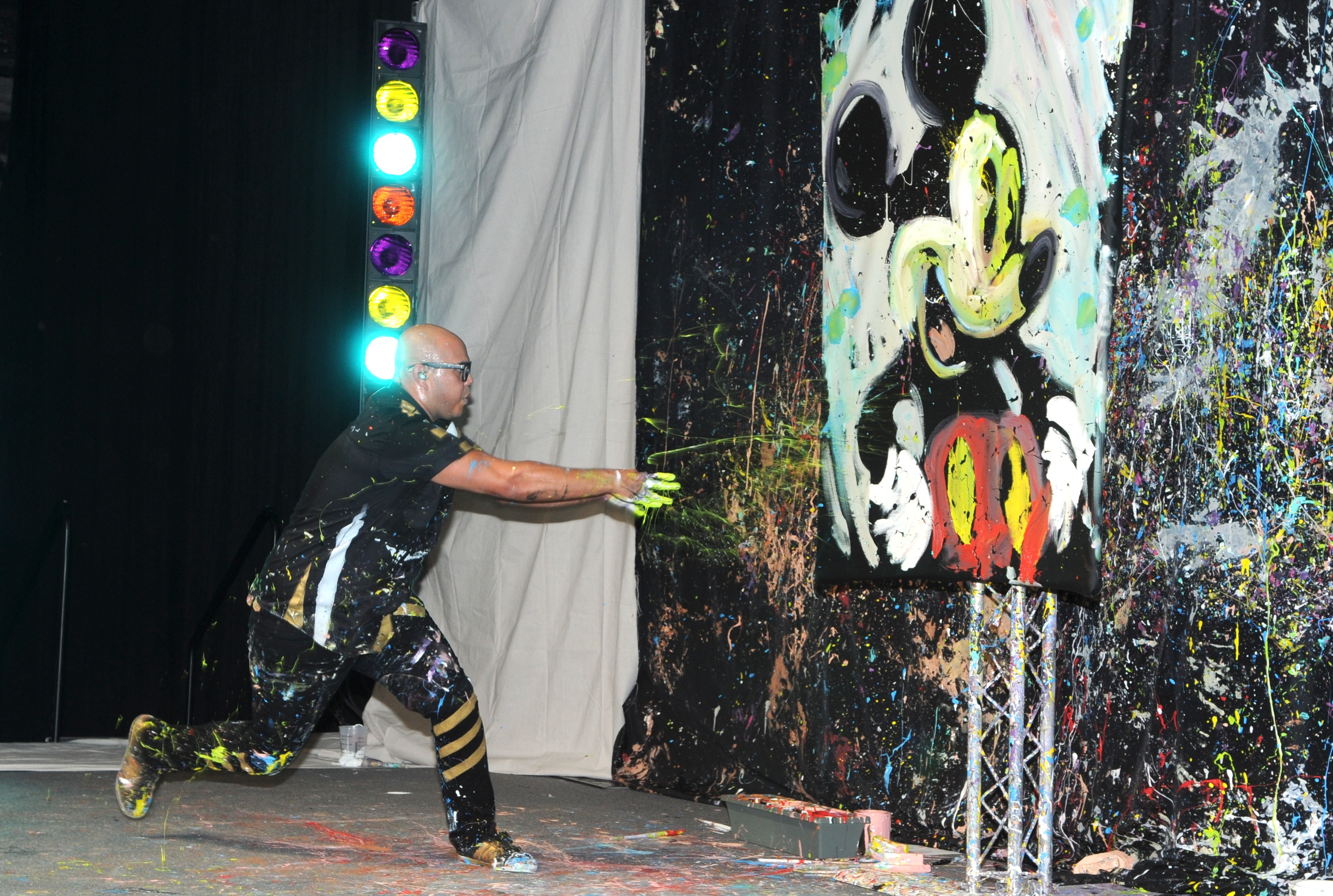 Mickey Mouse magically comes to life through David Garibaldi's performance at the Imagination Ball - photo by manny hernandez