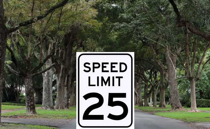 Coral Gables Speed Limit