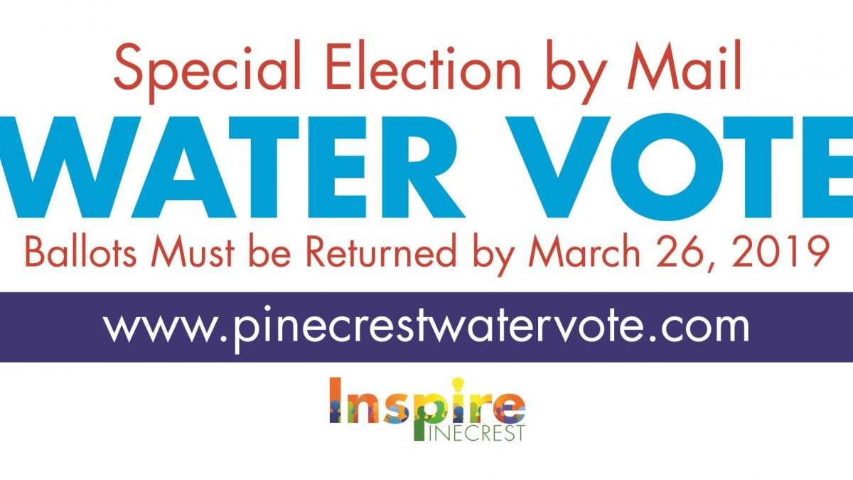 Pinecrest Water Vote