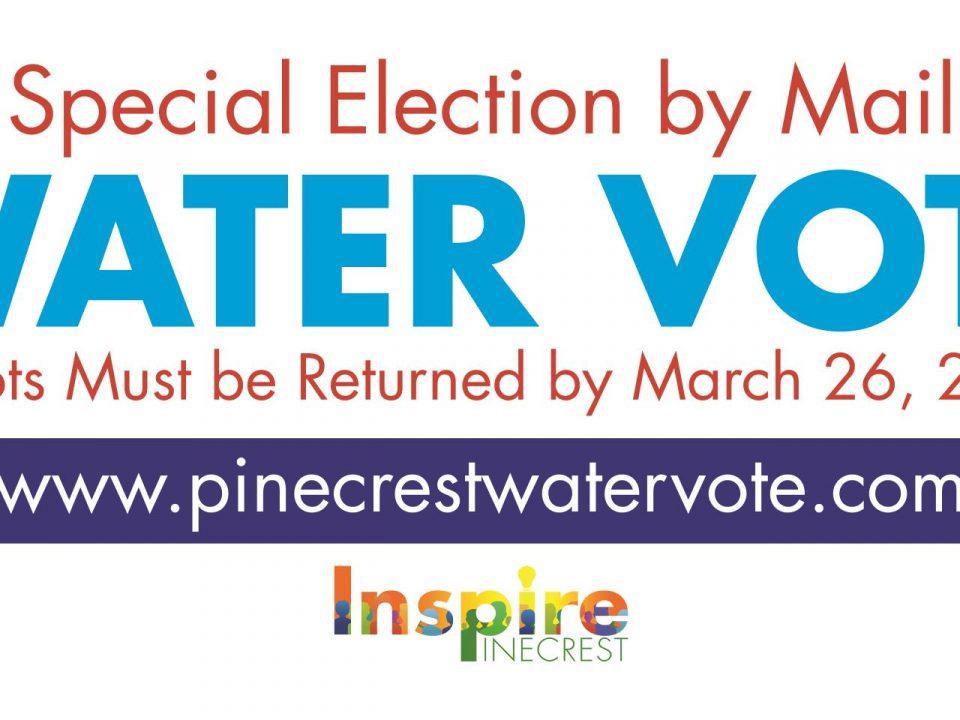 Pinecrest Water Vote
